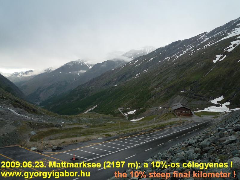 Mattmarksee ascent