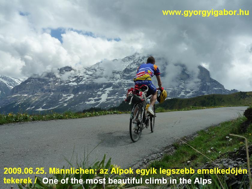 Alps Alpok Alpine bicycletour Mannlichen - Györgyi Gábor 2009