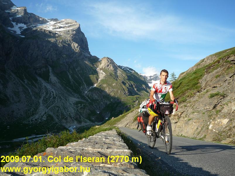 Alps Alpok Alpine bicycletour - Col de l'Iseran - Györgyi Gábor 2009