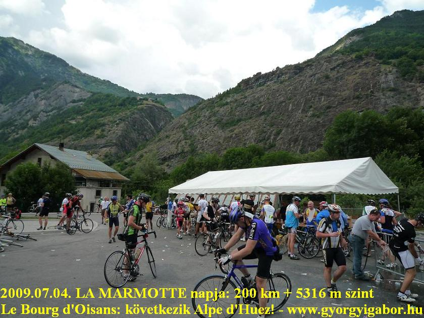 La Marmotte  - before starting up to Alpe d'Huez