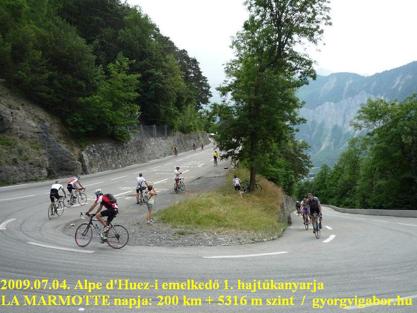 La Marmotte  - hairpin to Alpe d'Huez