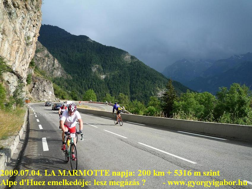 La Marmotte  - cycling up to Alpe d'Huez
