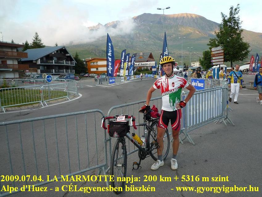 La Marmotte  - FINISH: Györgyi Gábor & Alpe d'Huez