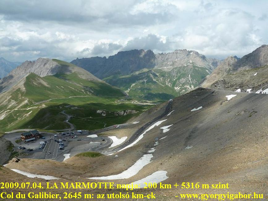 La Marmotte  - view from Col du Galibier (2645 m) to N