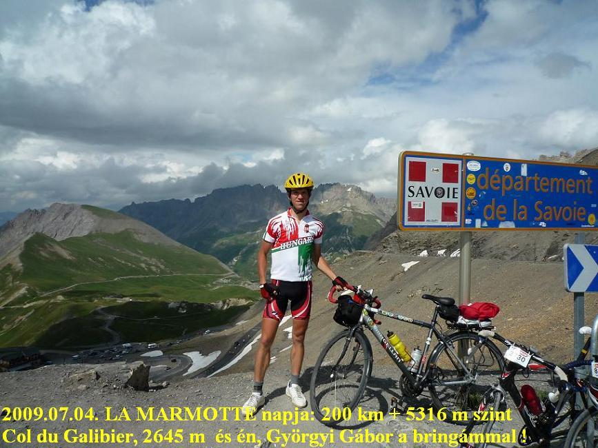 Alps Alpok. Col du Galibier / La Marmotte -  Györgyi Gábor 2009