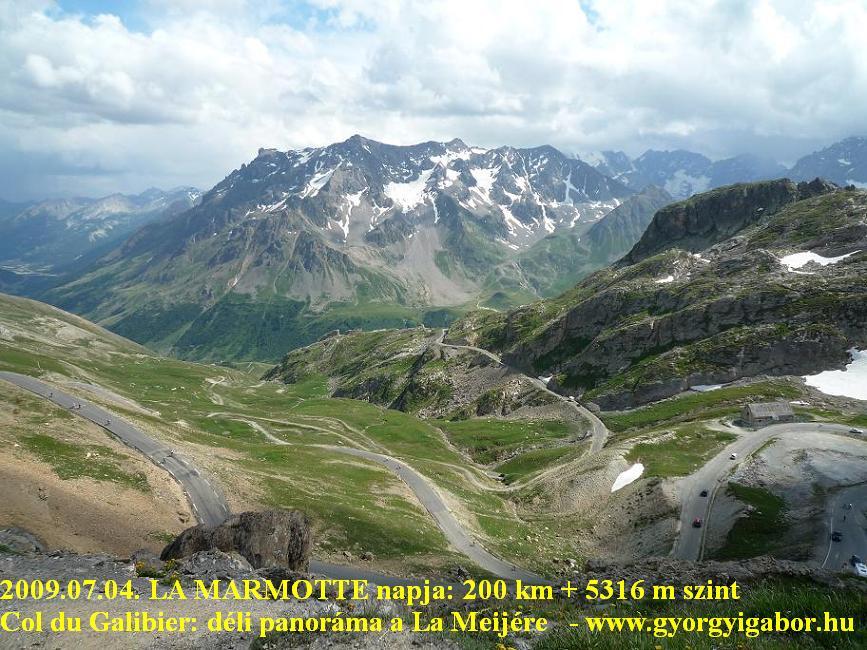 La Marmotte, Col du Galibier, southern view