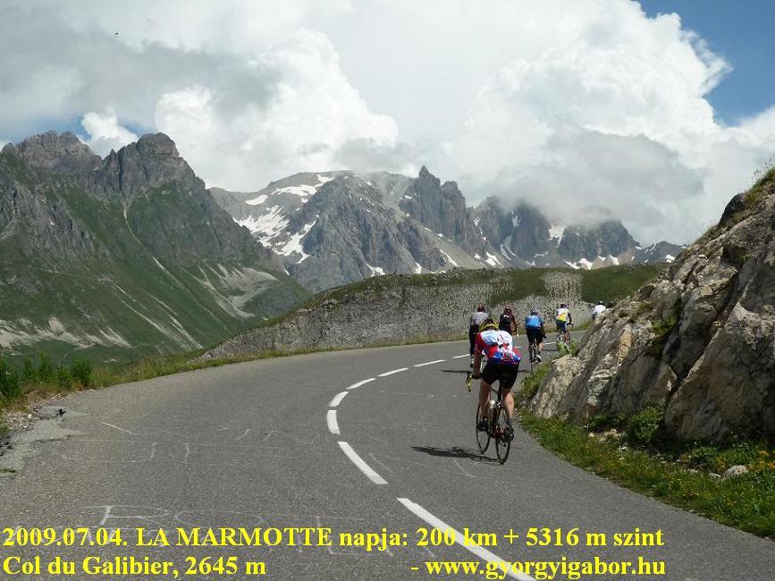 La Marmotte Col du Galibier (2645 m) from Valloire