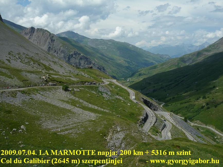 La Marmotte -  Col du Galibier (2645 m) from Valloire