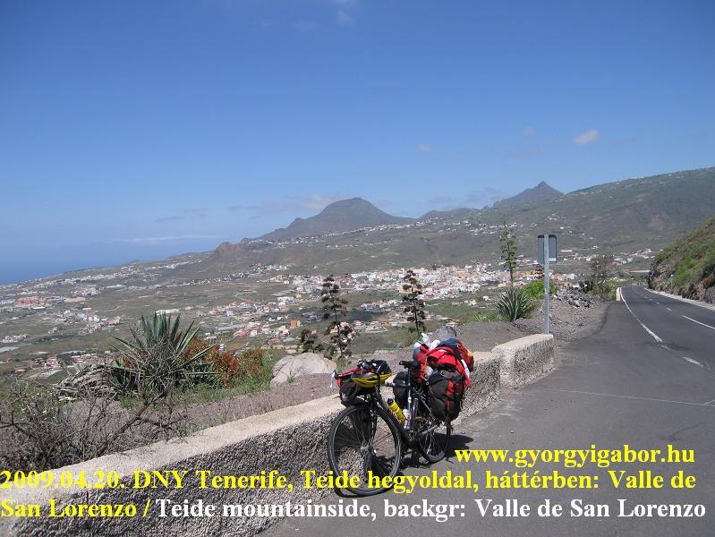 Mirador de la Centinela, Valle San Lorenzo / bicycletour