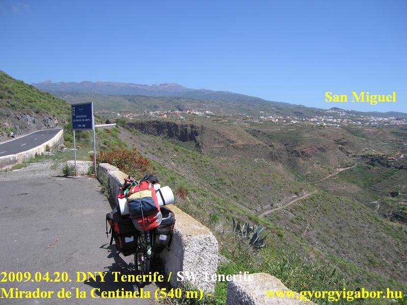 Mirador de la Centinela, San Miguel , Teide / bicycletour