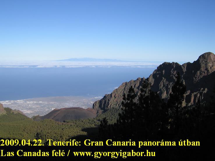 Tenerife: Gran canaria panorama from Teide / Esperanza climb