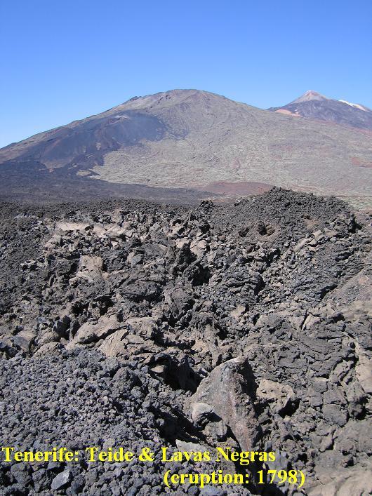 Tenerife, Teide plateau fennsĂk, Lavas Negras