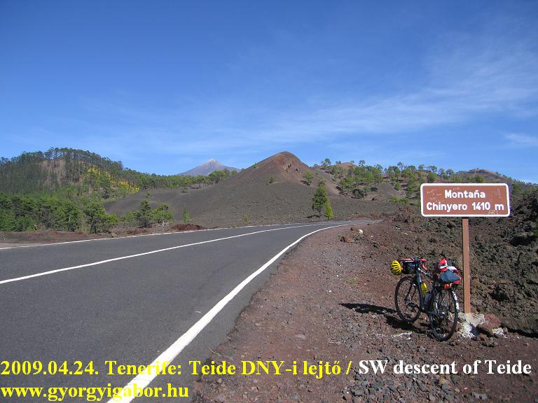 Tenerife, Teide descent, lejtő GÜIa Isora felé