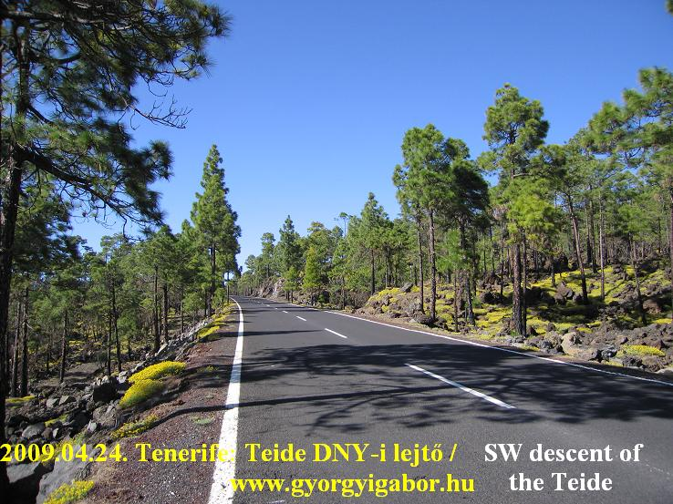 Tenerife, Teide descent, Güia Isora felé