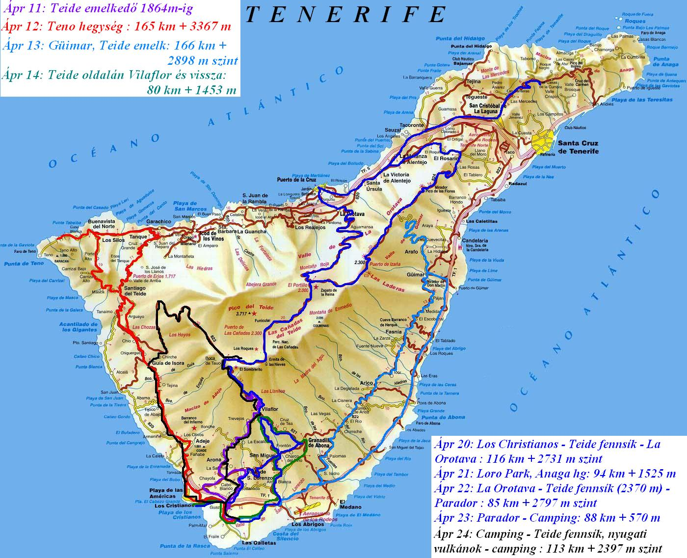 Bicycletour in Tenerife, La Palma : most steepest island of the ...