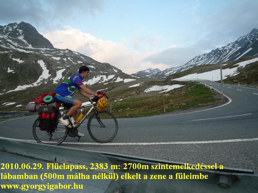 Flüelapass , Györgyi Gábor - bicycle / bringatúra