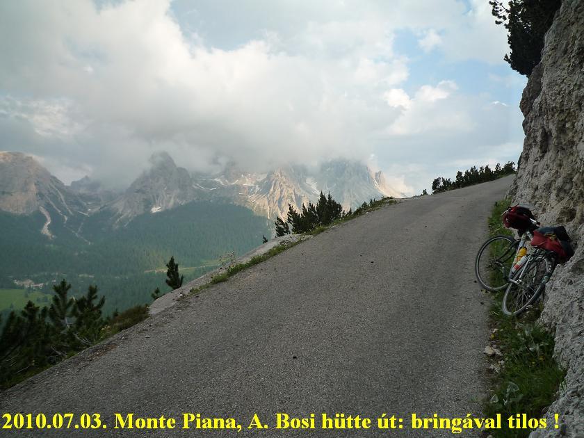 Monte Piana , Rifugio A. Bosi hütte , Györgyi Gábor - bicycle / bringatúra