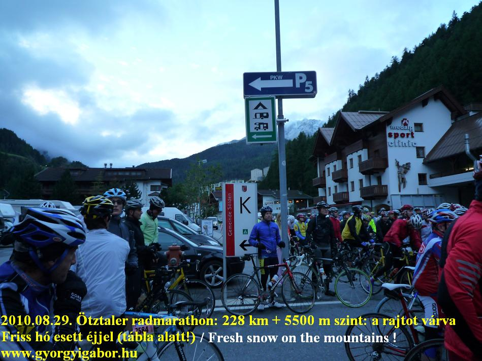 Ötztaler radmarathon / bicycle marathon / rajt: Györgyi Gábor