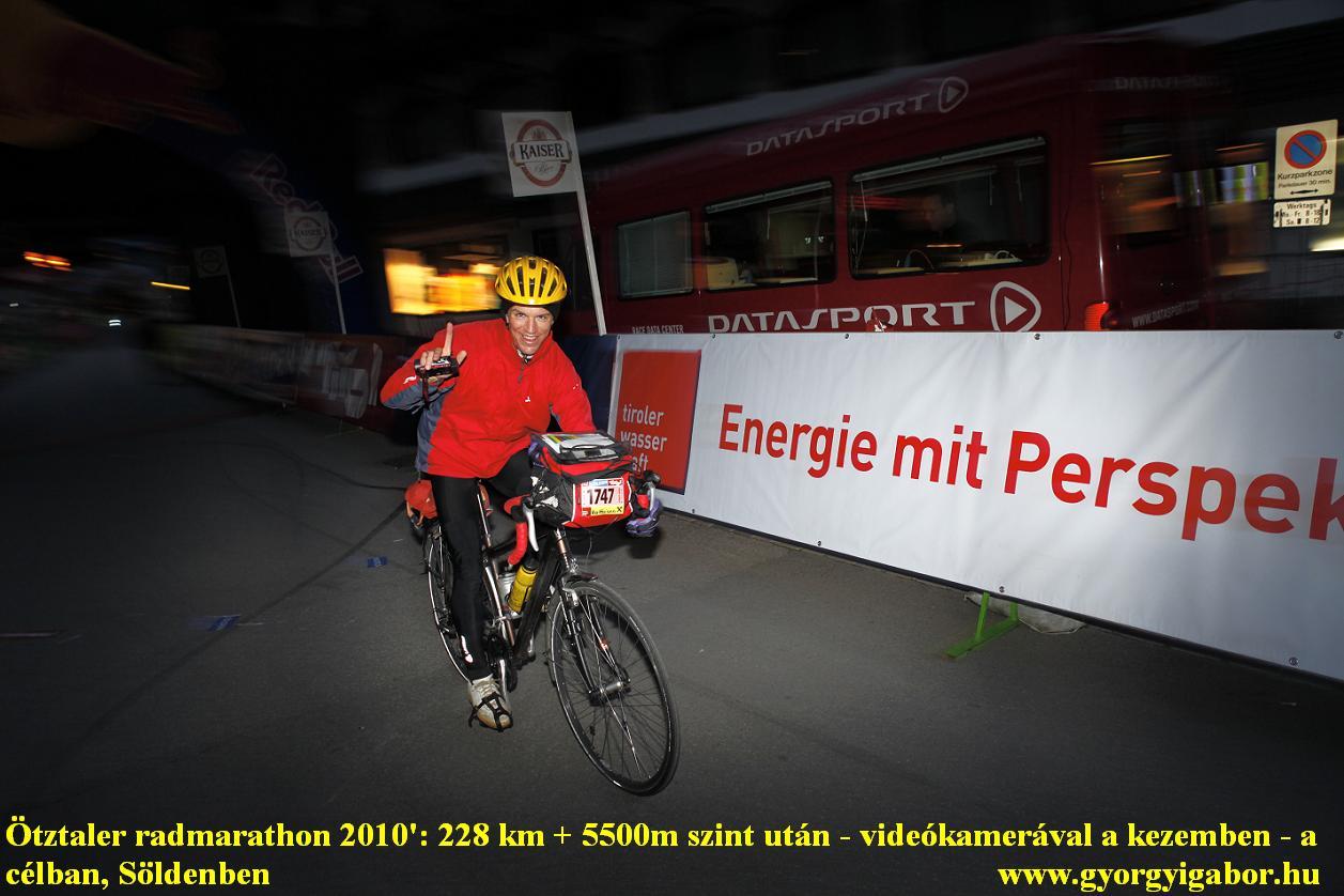 Ötztaler radmarathon / bicycle marathon / CÉL , Finish : Györgyi Gábor