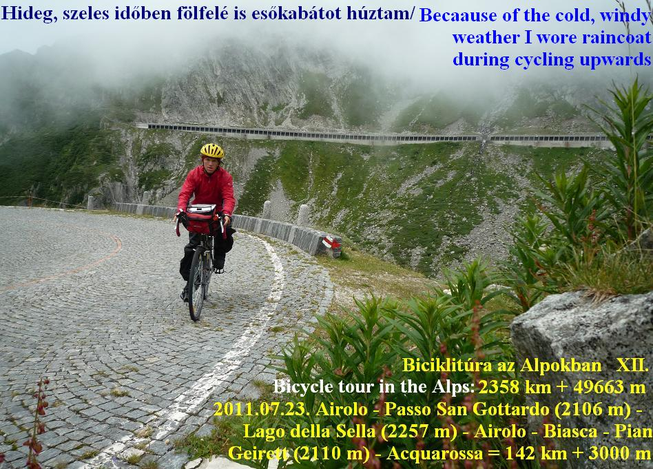Lago della Sella Scimfuss Passo san Gottardo , Gotthardpass Alps Alpok Alpen bicycle tour / bringatúra -  Györgyi Gábor 2011