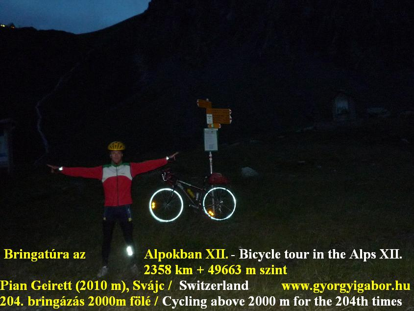 Olivone Pian Geirett (2012 m) Alps Alpok Alpen bicycle tour / bringatúra -  Györgyi Gábor 2011