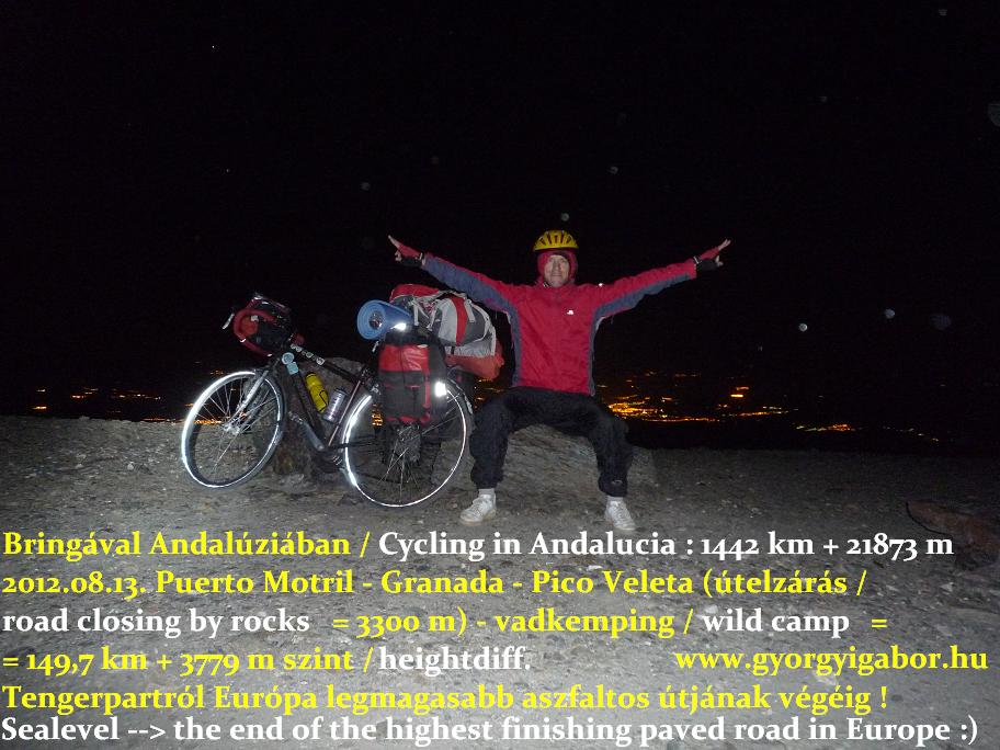 Györgyi Gábor - cycling , Biciklitúra - Pico Veleta , Andalúzia , Andalucia, Sierra Nevada
