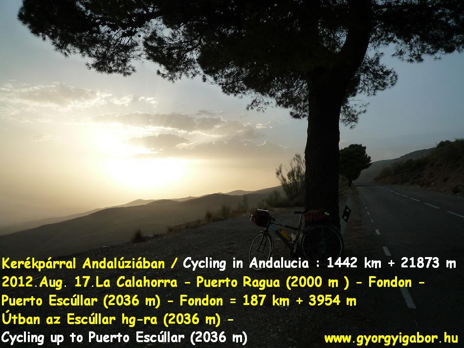 Györgyi Gábor :  Andalúzia kerékpárral / bicycle tour - Puerto Escúllar / Padilla (2036 m)