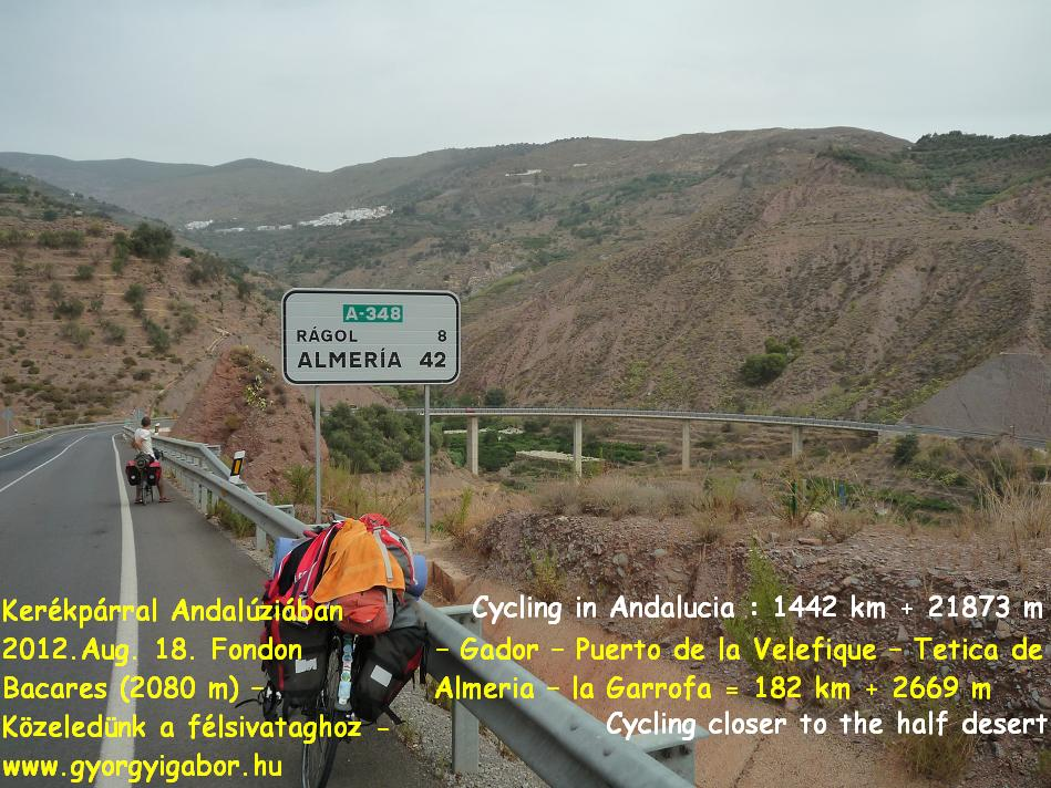 Györgyi Gábor :  Andalúzia kerékpárral / Andalucia bicycle tour - half desert / félsivatag - Tabernas