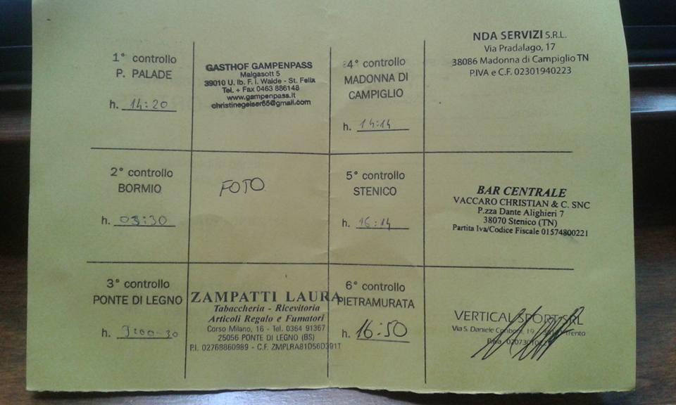 Alps , Alpok , Alpi - Brenta - Ortles brevetto: controll card - Györgyi Gábor 2015