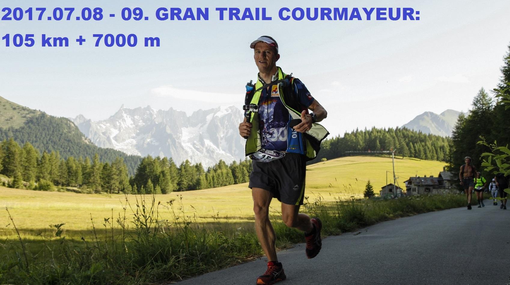 Györgyi Gábor : Gran trail Courmayeur (105 km + 7000 m)