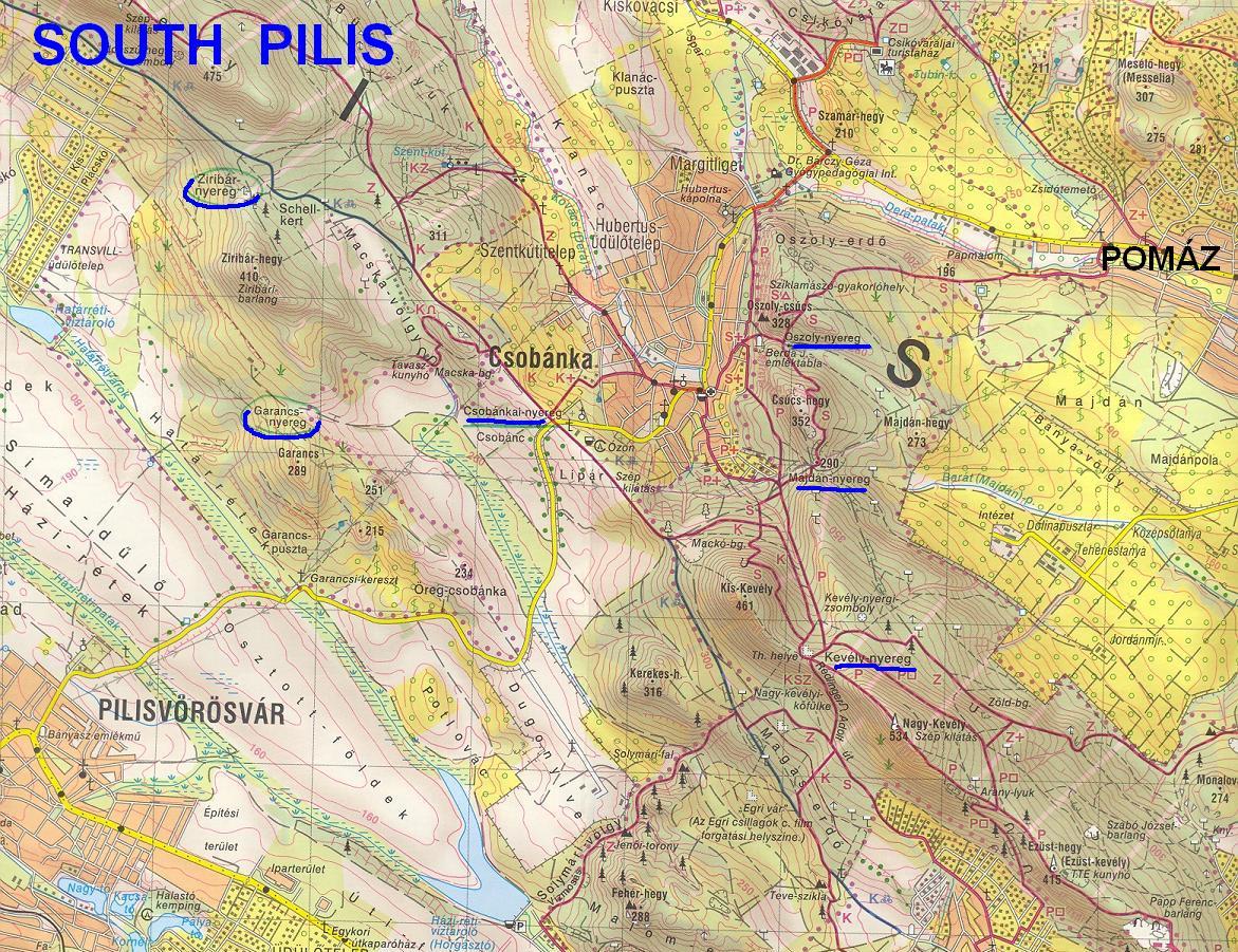 pilis domborzati térkép GYÖRGYI GÁBOR CYCLING PAGECOLS, SADDLES OF HUNGARY pilis domborzati térkép