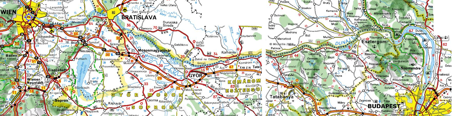 budapest bécs térkép Gruppetto Bécs – Budapest egy napos kerékpárvándortúra 2006. június 10 budapest bécs térkép