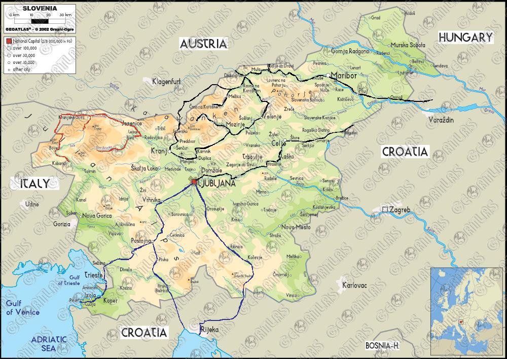 szlovénia térkép Kerékpártúra javaslatok, tippek, tanácsok Szlovéniában való  szlovénia térkép